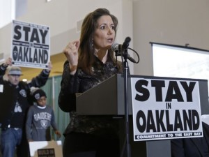 Oakland mayor Libby Schaaf made a last-ditch effort to keep the Raiders in Oakland.(Photo: Eric Risberg, AP)