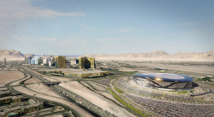 A rendering shows how the proposed domed stadium for Las Vegas might look. (Courtesy: MANICA Architecture)